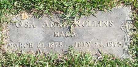 ROLLINS, OSA ANNA - Saline County, Arkansas | OSA ANNA ROLLINS - Arkansas Gravestone Photos