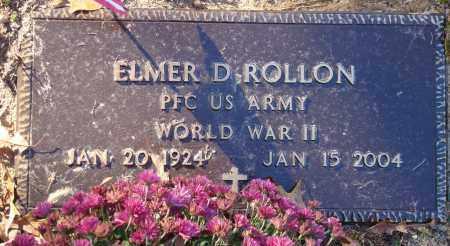 ROLLON (VETERAN WWII), ELMER D - Saline County, Arkansas | ELMER D ROLLON (VETERAN WWII) - Arkansas Gravestone Photos