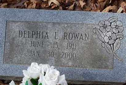 ROWAN, DELPHIA L - Saline County, Arkansas | DELPHIA L ROWAN - Arkansas Gravestone Photos