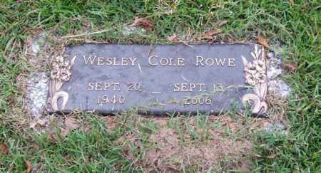 ROWE, WESLEY COLE - Saline County, Arkansas | WESLEY COLE ROWE - Arkansas Gravestone Photos