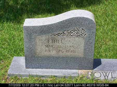 ROWLAND, ETHEL A. - Saline County, Arkansas | ETHEL A. ROWLAND - Arkansas Gravestone Photos