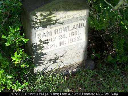 ROWLAND, SAM - Saline County, Arkansas | SAM ROWLAND - Arkansas Gravestone Photos