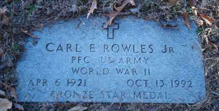 ROWLES, JR (VETERAN WWII), CARL E - Saline County, Arkansas | CARL E ROWLES, JR (VETERAN WWII) - Arkansas Gravestone Photos