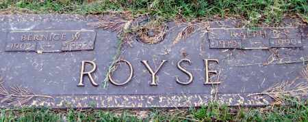 ROYSE, RALPH P. - Saline County, Arkansas | RALPH P. ROYSE - Arkansas Gravestone Photos
