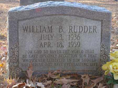 RUDDER, WILLIAM B - Saline County, Arkansas | WILLIAM B RUDDER - Arkansas Gravestone Photos