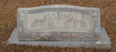 RUSHING, HOMER A. - Saline County, Arkansas | HOMER A. RUSHING - Arkansas Gravestone Photos