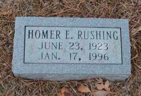 RUSHING, HOMER E. - Saline County, Arkansas | HOMER E. RUSHING - Arkansas Gravestone Photos