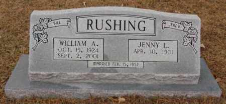 RUSHING, WILLIAM A. - Saline County, Arkansas | WILLIAM A. RUSHING - Arkansas Gravestone Photos