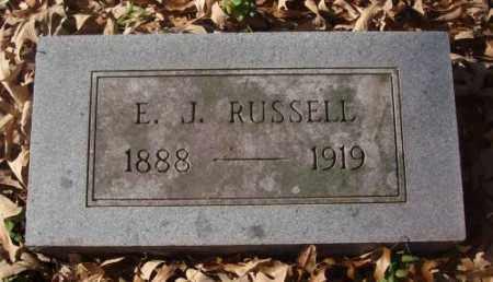 RUSSELL, E.J. - Saline County, Arkansas | E.J. RUSSELL - Arkansas Gravestone Photos