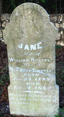 THOMPSON RUSSELL, JANE - Saline County, Arkansas | JANE THOMPSON RUSSELL - Arkansas Gravestone Photos