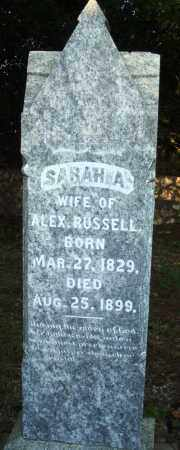 RUSSELL, SARAH A - Saline County, Arkansas | SARAH A RUSSELL - Arkansas Gravestone Photos