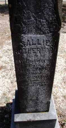 RUTHERFORD, SALLIE - Saline County, Arkansas | SALLIE RUTHERFORD - Arkansas Gravestone Photos