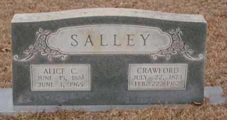 SALLEY, ALICE C. - Saline County, Arkansas | ALICE C. SALLEY - Arkansas Gravestone Photos
