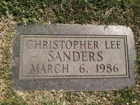 SANDERS, CHRISTOPHER LEE - Saline County, Arkansas | CHRISTOPHER LEE SANDERS - Arkansas Gravestone Photos