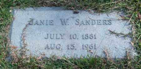 SANDERS, JANIE W. - Saline County, Arkansas | JANIE W. SANDERS - Arkansas Gravestone Photos