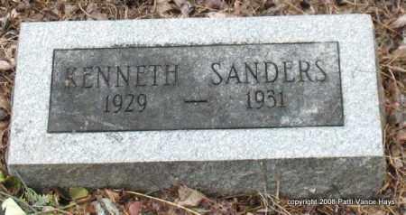 SANDERS, KENNETH - Saline County, Arkansas   KENNETH SANDERS - Arkansas Gravestone Photos