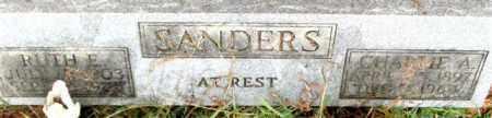 SANDERS, RUTH E. - Saline County, Arkansas | RUTH E. SANDERS - Arkansas Gravestone Photos