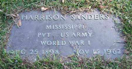 SANDERS (VETERAN WWI), HARRISON - Saline County, Arkansas | HARRISON SANDERS (VETERAN WWI) - Arkansas Gravestone Photos