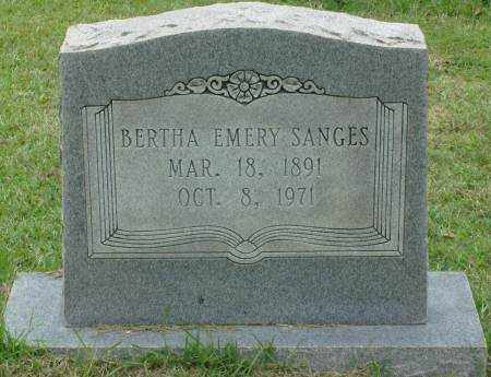 EMERY SANGES, BERTHA - Saline County, Arkansas | BERTHA EMERY SANGES - Arkansas Gravestone Photos