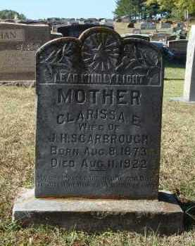 SCARBROUGH, CLARISSA EMALINE - Saline County, Arkansas | CLARISSA EMALINE SCARBROUGH - Arkansas Gravestone Photos