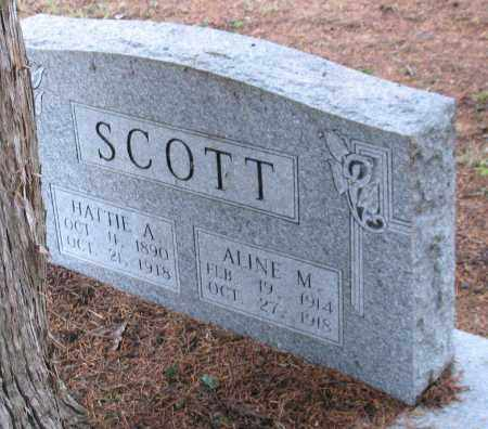 SCOTT, ALINE M. - Saline County, Arkansas | ALINE M. SCOTT - Arkansas Gravestone Photos