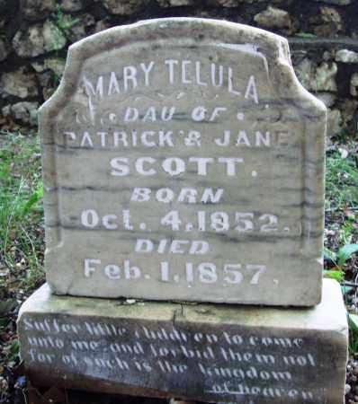 SCOTT, MARY TELULA - Saline County, Arkansas | MARY TELULA SCOTT - Arkansas Gravestone Photos