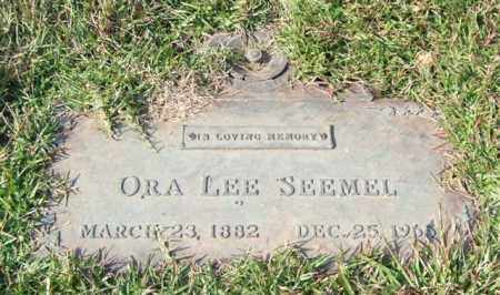 SEEMEL, ORA LEE - Saline County, Arkansas | ORA LEE SEEMEL - Arkansas Gravestone Photos