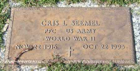 SEEMEL (VETERAN WWII), CRIS L - Saline County, Arkansas | CRIS L SEEMEL (VETERAN WWII) - Arkansas Gravestone Photos