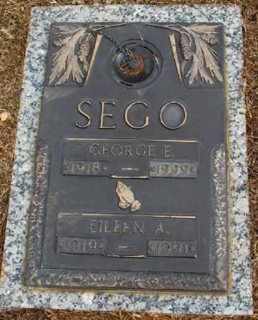SEGO, GEORGE E. - Saline County, Arkansas | GEORGE E. SEGO - Arkansas Gravestone Photos