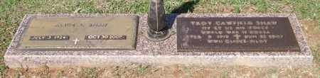 SHAW (VETERAN 2 WARS), TROY CAWFIELD - Saline County, Arkansas | TROY CAWFIELD SHAW (VETERAN 2 WARS) - Arkansas Gravestone Photos