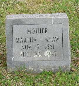 SHAW, MARTHA I. - Saline County, Arkansas | MARTHA I. SHAW - Arkansas Gravestone Photos