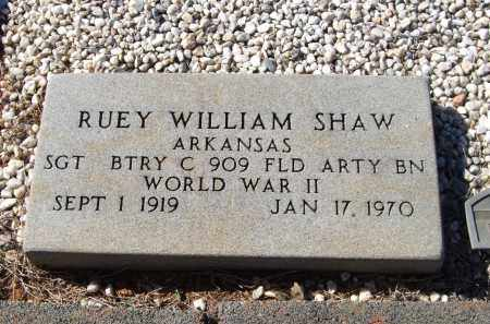 SHAW (VETERAN WWII), RUEY WILLIAM - Saline County, Arkansas | RUEY WILLIAM SHAW (VETERAN WWII) - Arkansas Gravestone Photos