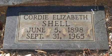 TITTLE SHELL, CORDIE ELIZABETH - Saline County, Arkansas | CORDIE ELIZABETH TITTLE SHELL - Arkansas Gravestone Photos