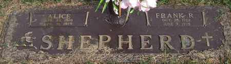 SHEPHERD, ALICE - Saline County, Arkansas | ALICE SHEPHERD - Arkansas Gravestone Photos
