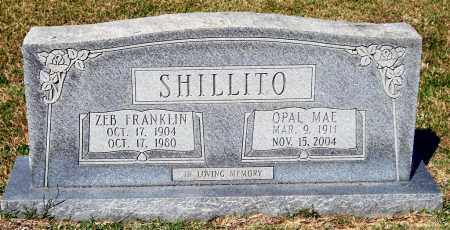 SHILLITO, ZEB FRANKLIN - Saline County, Arkansas | ZEB FRANKLIN SHILLITO - Arkansas Gravestone Photos