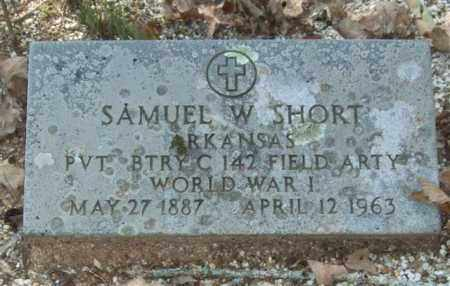 SHORT (VETERAN WWI), SAMUEL W - Saline County, Arkansas | SAMUEL W SHORT (VETERAN WWI) - Arkansas Gravestone Photos