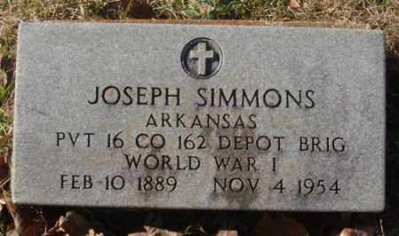 SIMMONS (VETERAN WWI), JOSEPH - Saline County, Arkansas | JOSEPH SIMMONS (VETERAN WWI) - Arkansas Gravestone Photos