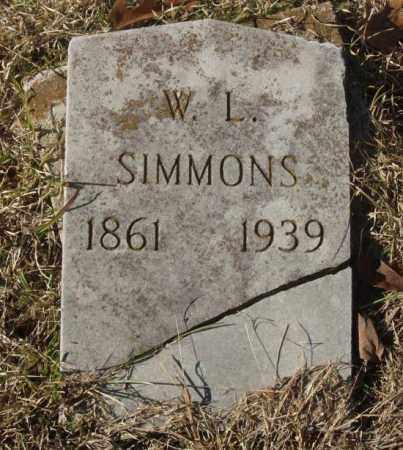SIMMONS, W.L. - Saline County, Arkansas | W.L. SIMMONS - Arkansas Gravestone Photos