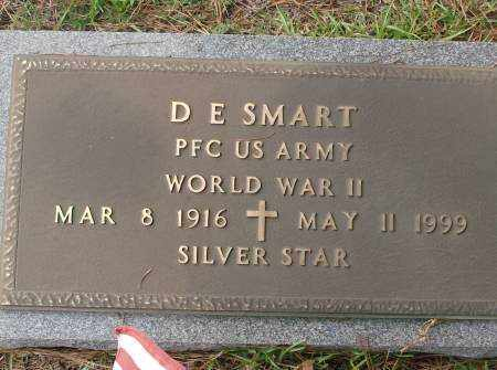 SMART  (VETERAN WWII), D E - Saline County, Arkansas | D E SMART  (VETERAN WWII) - Arkansas Gravestone Photos