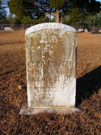 F SPEER, ELZA - Saline County, Arkansas | ELZA F SPEER - Arkansas Gravestone Photos