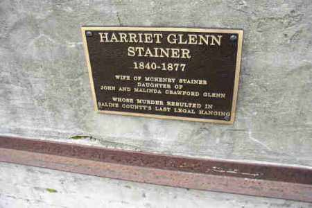 GLENN STAINER, HARRIET (CLOSEUP) - Saline County, Arkansas | HARRIET (CLOSEUP) GLENN STAINER - Arkansas Gravestone Photos