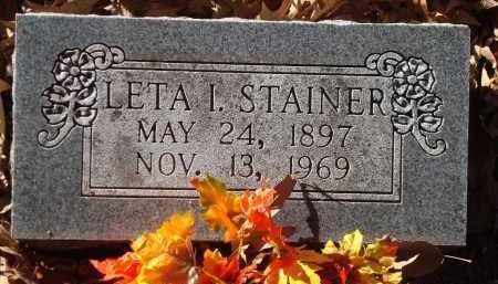 STAINER, LETA I - Saline County, Arkansas | LETA I STAINER - Arkansas Gravestone Photos