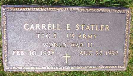 STATLER (VETERAN WWII), CARRELL E - Saline County, Arkansas | CARRELL E STATLER (VETERAN WWII) - Arkansas Gravestone Photos