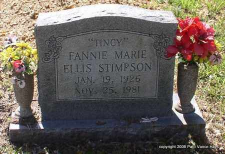 ELLIS STIMPSON, FANNIE MARIE - Saline County, Arkansas | FANNIE MARIE ELLIS STIMPSON - Arkansas Gravestone Photos