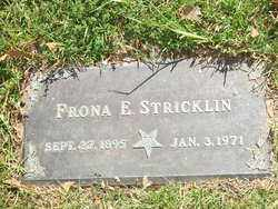 STRICKLIN, FRONA E. - Saline County, Arkansas | FRONA E. STRICKLIN - Arkansas Gravestone Photos