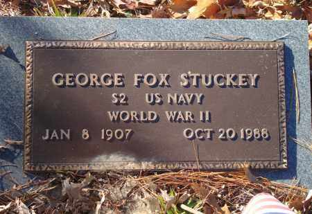 STUCKEY (VETERAN WWII), GEORGE FOX - Saline County, Arkansas | GEORGE FOX STUCKEY (VETERAN WWII) - Arkansas Gravestone Photos