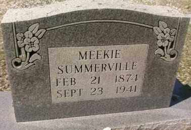 SUMMERVILLE, MEEKIE - Saline County, Arkansas | MEEKIE SUMMERVILLE - Arkansas Gravestone Photos