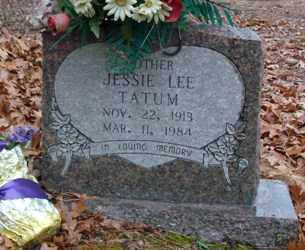 TATUM, JESSIE LEE - Saline County, Arkansas | JESSIE LEE TATUM - Arkansas Gravestone Photos