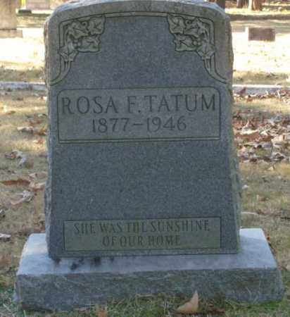 TATUM, ROSA F. - Saline County, Arkansas | ROSA F. TATUM - Arkansas Gravestone Photos