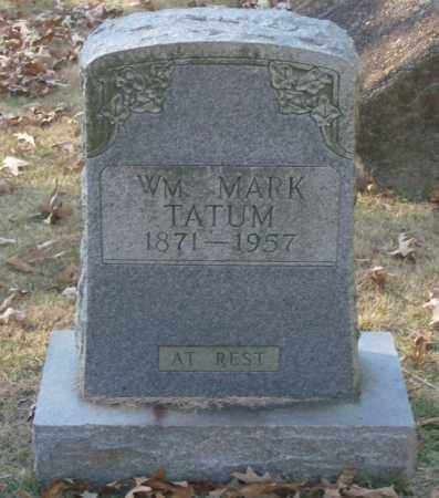 TATUM, WM. MARK - Saline County, Arkansas | WM. MARK TATUM - Arkansas Gravestone Photos